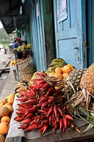 Foodstuff at food market, Ranomafana, Madagascar