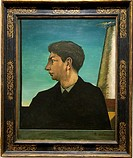 Self-Portrait, 1911, by Giorgio de Chirico Italian, born in Greece, 1888-1978, Oil on canvas, H  34-3/8, W  27-1/2 inches 87 3 x 69 9 cm , Metropolita...