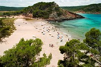 Algaiarens beach in La Vall  Ciudadela , Minorca, Balearic Islands, Spain, Europe