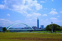 Taiwan, Taipei, Taipei 101, MacArthur 2nd Bridge, Caihong Riverside Park