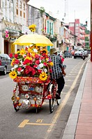 Malaysia, Melaka State, Jonker Street, Rickshaw