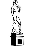 A sketch of a sculpture