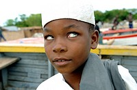 islamic boy at lake malawi near salima malawi