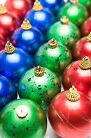 Rows of Christmas baubles (thumbnail)