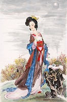 Chinese historical woman famous for her beauty and elegance, Diao Chan