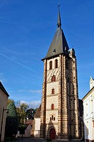 TOWER OF THE SENONCHES CHURCH, EURE_ET_LOIR 28, FRANCE