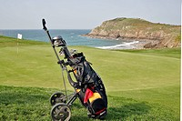 GOLF COURSE BY THE SEA, DINARD, ILLE_ET_VILAINE 35, FRANCE