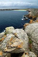 Scenic view from Pointe de Penhir on Atlantic coast in Brittany, France