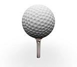 3D render of golf ball on tee