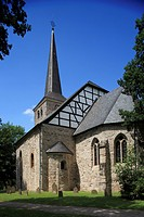 Village church Stiepel in Bochum, Ruhr area, North Rhine_Westphalia, Germany, Europe