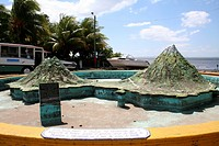 Miniature model depicting ÒPeace OasisÓ Ometepe Island on Lake Nicaragua.