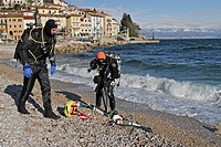Tec Diver at Beach, Istria, Adriatic Sea, Croatia