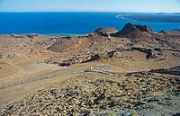 Volcano at Bartholome Island at Galapagos National Park, Galapagos, Pacific Ocean, Ecuador