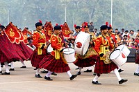 India, New Delhi, military fanfare