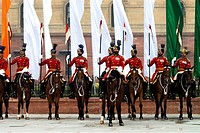 India, New Delhi, district of the ministry and parliament, military parade