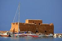 Cyprus, Paphos, the port and the Paphos castle