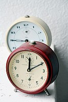 two alarm-clocks antique