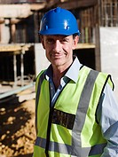 Mature man on construction site, portrait
