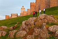 City walls, Avila, Castilla-Leon, Spain