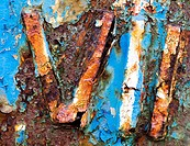Close up of rusting boat