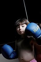 Boy as a boxer