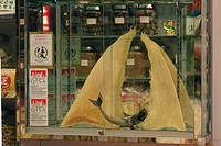 Dried shark fins for sale as food and medicine, Hong Kong, China