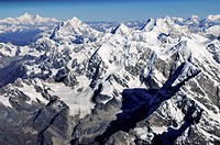 Aerial views of Himalayas