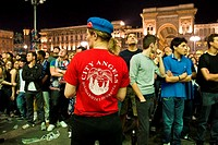 Final football mach Champions League Inter-Bayern Munchen, Duomo square, Milan, Italy, 22 05 2010