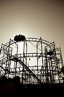 Wild mouse roller coaster ride on Pleasureland amusement park,Southport,England