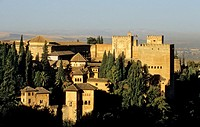 Nazaries palaces and Alcazaba Alhambra, Granada  Andalusia, Spain