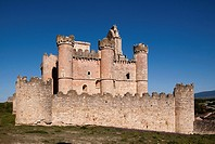 West front of castle, Turegano, Segovia province, Castilla-Leon, Spain
