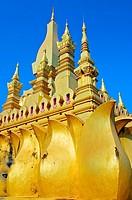 Golden stupa. Pha That Luang. Vientiane. Laos.