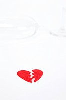 broken glass and heart shape
