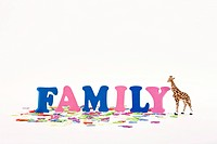 alphabet, animal shape and FAMILY