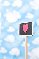 Wallpaper and heart shape on sign (thumbnail)
