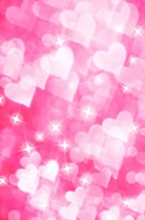 Pink background of heart shapes