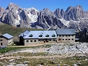 Schlernhaus vor Rosengarten, Südtirol