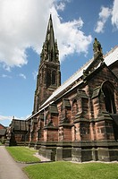 The Pugin designed St Giles Catholic church, Cheadle Staffordshire