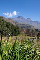 View on to the Drakensberg mountains from the Champagne Castle resort  April 2009, fall  Drakensberg, Kwazulu-Natal, South Africa