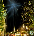 Buildings Lit Up At Night, O´connell Street, Dublin, Republic Of Ireland
