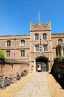 Jesus College Gatehouse, Cambridge, England, UK