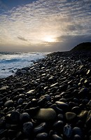 Doolin, County Clare, Ireland, Pebble Beach At Sunset