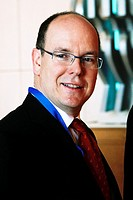 H S H Prince ALBERT II of Monaco in Athens Greece