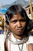 Portrait of a Dongraiya Kondh woman.