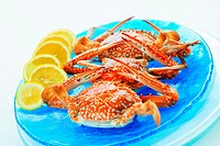 Crabs with lemon slices, Thailand