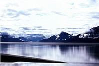 USA, Alaska, Blick auf einem Fluss und Gebirge