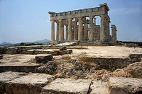 Aphaia Greek temple on the island of Aegina
