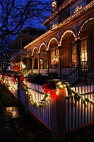 Chistmas Lights at Cape May, New Jersey