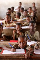 Primary school, Lome, Togo, West Africa, Africa