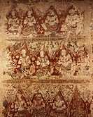 Murals dating from the Ayutthaya period in Wat Yai Suwannaram, Petchaburi, Thailand, Southeast Asia, Asia